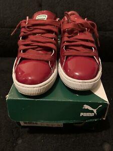 Puma Basket Matte & Shine Sneakers Red - 358892 04 (  size 7)