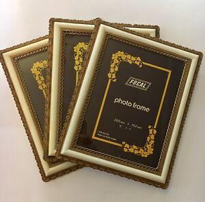 """Set Of 3 Vintage Retro Photo Picture Frames 'Focal' 8""""x 6"""" 20.3cm x 15.2cm"""