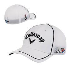 NEW! Callaway TA Mesh Fitted Men's Golf Hat Cap - White & Black - Sz S/M - Phil