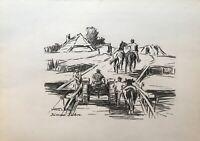 Karl Freede 1908-2000 Leer Bauern Traktor Kuh Perde Fähre Jümme Ostfriesland