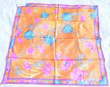 Leonard Paris Floral Print 100% Silk Scarf Made in Italy BN Authentic