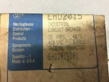 New In Box Westinghouse 15 Amp 480 Vac 2 Pole Circuit Breaker Ehd2015
