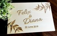 "Personalised ""Leaf Design"" Wedding / Engagement Guest Book"
