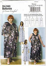 Womens Robe Nightie Negligee Nightgown Connie Crawford Sewing Pattern XXL-6X