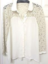 Zara Collared 3/4 Sleeve Tops & Shirts for Women