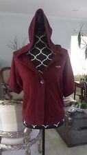 Hollister of Abercrombie Hoodie Cardigan Burgundy 3/4 Sleeves - Size M; EUC