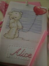 'Lickle Ted' Cross stitch chart (only)