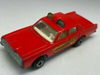 Matchbox Lesney Superfast No 59 Red Mercury Fire Chief Car
