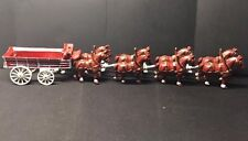Cast Iron 8 Clydesdale Horses And Wagon Vintage