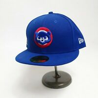 New Era 59fifty 100% authentic Chicago Cubs Size 7-1/2 fitted Hat blue MLB