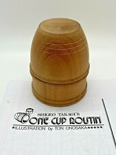 One Cup Routine by Shigeo Takagi - complete set out of Cuban Mahogany