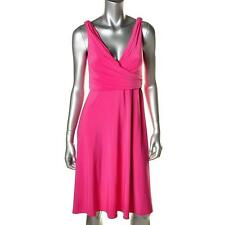 ELIE TAHARI ~ $118 KENDALL PINK MATTE JERSEY RUCHED LOW COCKTAIL DRESS SZ S NWT