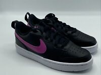Nike Girls Shoes Size 4.5 Y Youth Court Borough Low 2 BQ5448 003 Black/Pink New!