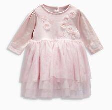 •••ВNWT NEXT Party Outfit • Pink Flower Tutu Dress • 100% Cotton • 6-9 Months