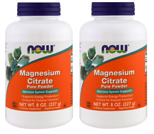 NOW Magnesium Citrate Powder 8 Ounces (Pack of 2)