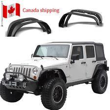 4Pcs Texture Black Front & Rear Steel Fender Flares for 07-18 Jeep Wrangler JK