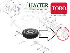 "Geninue Hayter TORO R53S R53A 21"" Recycler RUOTA POSTERIORE 117-4104 1174104 -720 #V"