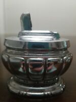 Vintage Negbaur Table Lighter, Chrome, 1950's, NY