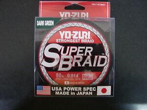 YO-ZURI SUPERBRAID Dark Green Fishing Line 50lb 300yd R1269-DG Super Braid