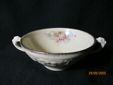 Crown Ducal. Florentine. Picardy. Handled Soup Bowl. Made In England.