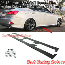 Bottom Line Style Addon Side Skirt Extensions (Urethane) Fits 06-13 IS250 IS350