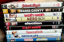 Lot of 9 Comedy Dvd Movies: School Of Rock, Scary Movie, Election, Grown Ups