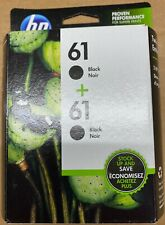 HP 61 Black Twin Pack Brand New Ink Cartridges in Retail Box