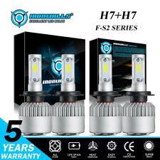 IRONWALLS H7+H7 LED Headlight Kit for Hyundai Santa Fe 2007-2018 High Low Beam
