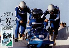 CARTE POSTALE MAXIMUM / GERMANY ALLEMAGNE SPORT / OLYMPIADE 1988 / BOBSLED