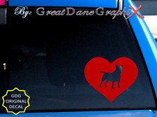 Miniature Bull Terrier #1 in Heart-Vinyl Decal Sticker-Color Choice-High Quality