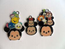 Six  Cute Mixed Tsum Tsum Mickey and Minnie Mouse   Enamel Pendants