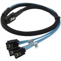 1m Mini SAS 36P SFF-8087 to 4 X SATA 7Pin HD Splitter Breakout Cable