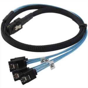1m Mini SAS 36P SFF-8087 to 4 X SATA 7Pin HD Splitter Breakout Cable