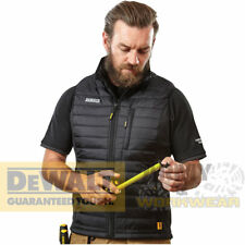 Dewalt Chaleco Para Hombre Chaleco Force Negro Ligero Acolchado bolsillo con cremallera de trabajo
