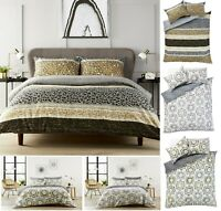 Luxuries ZARA PEONY Printed Reversable Duvet Quilt Cover+Pillow Case Bedding Set