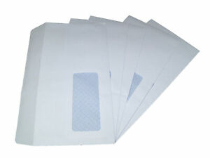 Packitsafe A6 Window Envelopes 114mm x 162mm Self-Seal White Standard Paper M...