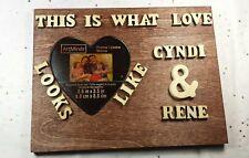 "6"" x 7"" Amazing Custom Couple Personalized Frame Wedding Gift, Wooden Name Sign"