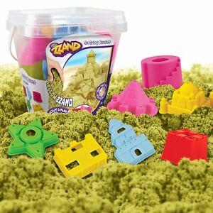 Creative Kids Play Sand Bucket Activity Kit - 500 gr of Sand & 7 Molded Tools