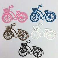 8 Bicycle Bike Silhouette Cardstock Die cut Embellishment Paper Crafts Cards