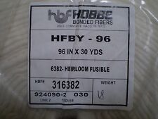 "HOBBS Fusible Cotton Blend Wadding / Batting - 96"" Wide"