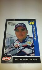 Jimmie Johnson Autograph Rookie 2002 Press Pass Trackside Card Lowe's Chevy