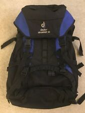 Deuter Aircontact 35 Backpacking Hiking Internal Frame Backpack Blue Black Women