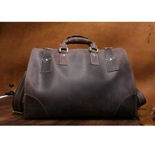 Men Tote Travel Bags Luggage Duffle Overnight Camping Hiking Leather Bag Vintage