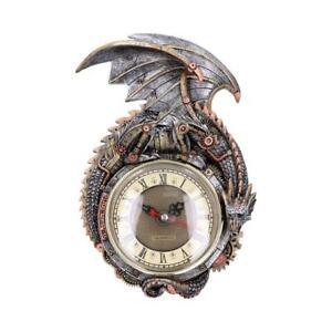 Nemesis Now Clockwork Combustor 26.5cm Steampunk Dragon Wall Clock
