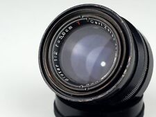 Red BIOTAR 2/58 M42 T mount CARL ZEISS JENA 17 lame apertura Nero