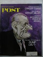 Saturday Evening Post Magazine  February 10,1968 Ronald Searle GREAT VINTAGE ADS