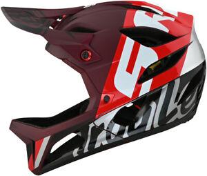 Troy Lee Designs Stage MIPS Full Face Bike Helmet Nova Sram Burgundy