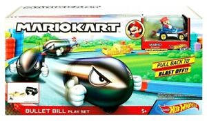 New Hot Wheels Mario Kart Bullet Bill Track Set New Release Ages 5+ Kids Toys