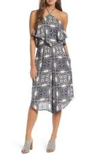 MIMI CHICA Print Halter Neck Jumpsuit (M) Nordstrom
