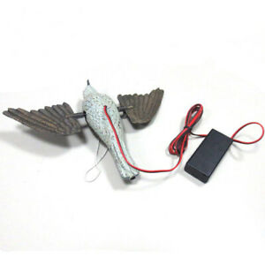 Electric Spinning Wing Hunting Decoy Flying Bird Scarer Pest Rodents Repeller